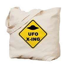 UFO Crossing Tote Bag