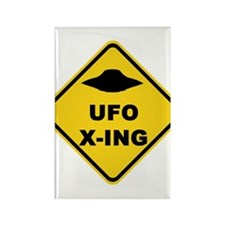 UFO Crossing Rectangle Magnet