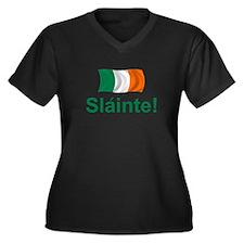 Irish Slainte Women's Plus Size V-Neck Dark T-Shir