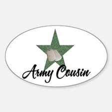 army cousin Oval Decal