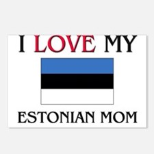 I Love My Estonian Mom Postcards (Package of 8)