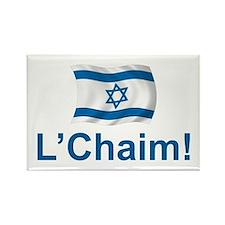 Israel L'Chaim Rectangle Magnet