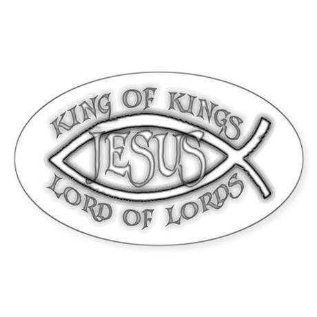 King of Kings Ichthus Oval Sticker