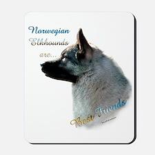Elkhound Best Friend 1 Mousepad