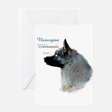 Elkhound Best Friend 1 Greeting Card