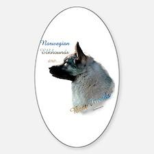 Elkhound Best Friend 1 Oval Decal