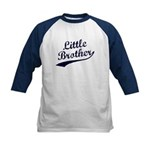 Little Brother (Blue Text) Kids Baseball Jersey