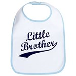 Little Brother (Blue Text) Bib