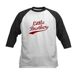 Little Brother (Red Text) Kids Baseball Jersey