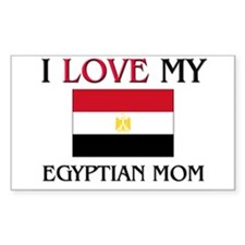 I Love My Egyptian Mom Rectangle Decal