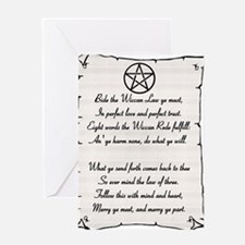Wiccan Reade Greeting Card