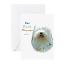 Old English Best Friend 1 Greeting Cards (Pk of 10