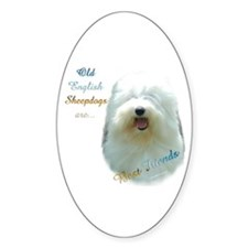 Old English Best Friend 1 Oval Decal