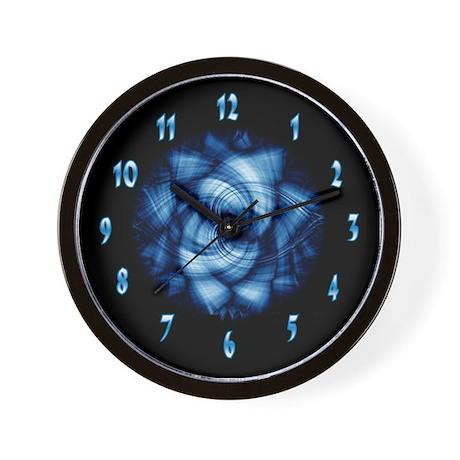 Blue Spiral Clock