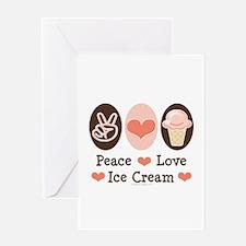Peace Love Ice Cream Greeting Card