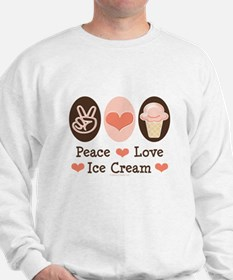 Peace Love Ice Cream Sweatshirt
