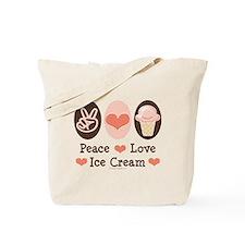 Peace Love Ice Cream Tote Bag