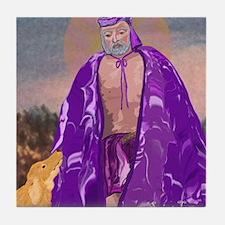 Saint Lazarus Tile Coaster