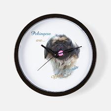 Pekingese Best Friend 1 Wall Clock