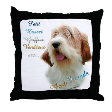 PBGV Best Friend 1 Throw Pillow
