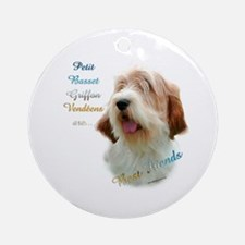 PBGV Best Friend 1 Ornament (Round)