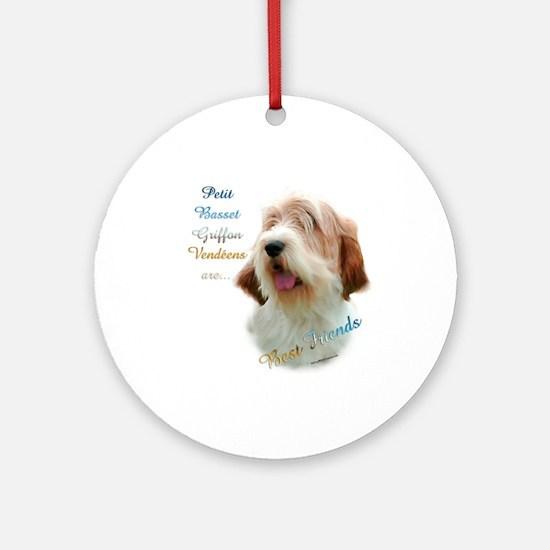 PBGV Best Friend 1 Ornament (Round)