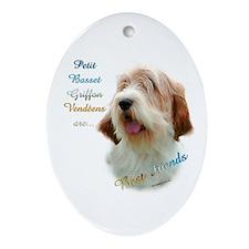 PBGV Best Friend 1 Oval Ornament