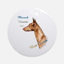 Pharaoh Best Friend 1 Ornament (Round)
