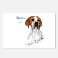 Pointer Best Friend 1 Postcards (Package of 8)
