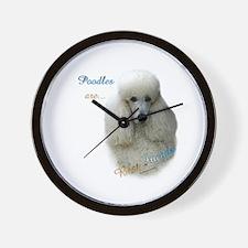 Poodle Best Friend 1 Wall Clock