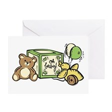 Baby Block Oh, Baby Greeting Card