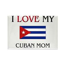 I Love My Cuban Mom Rectangle Magnet (10 pack)