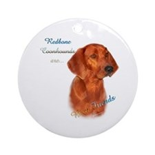 Coonhound Best Friend 1 Ornament (Round)