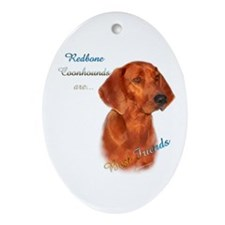 Coonhound Best Friend 1 Oval Ornament
