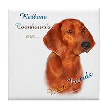 Coonhound Best Friend 1 Tile Coaster