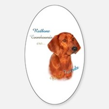 Coonhound Best Friend 1 Oval Decal