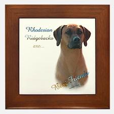 Ridgeback Best Friend 1 Framed Tile
