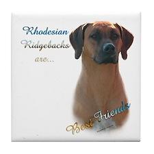 Ridgeback Best Friend 1 Tile Coaster