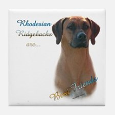 Ridgeback Best Friend 1 Tile Coaster