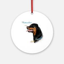 Rottweiler Best Friend 1 Ornament (Round)