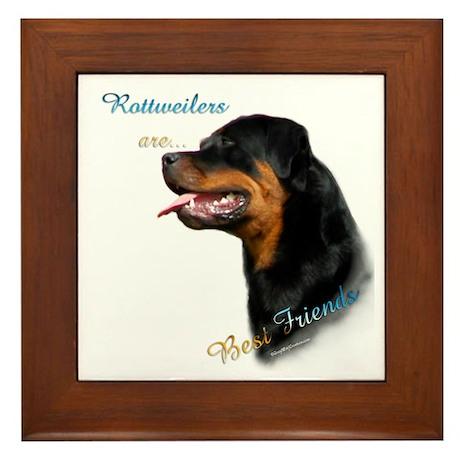 Rottweiler Best Friend 1 Framed Tile