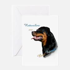 Rottweiler Best Friend 1 Greeting Card