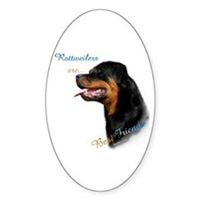 Rottweiler Best Friend 1 Oval Decal