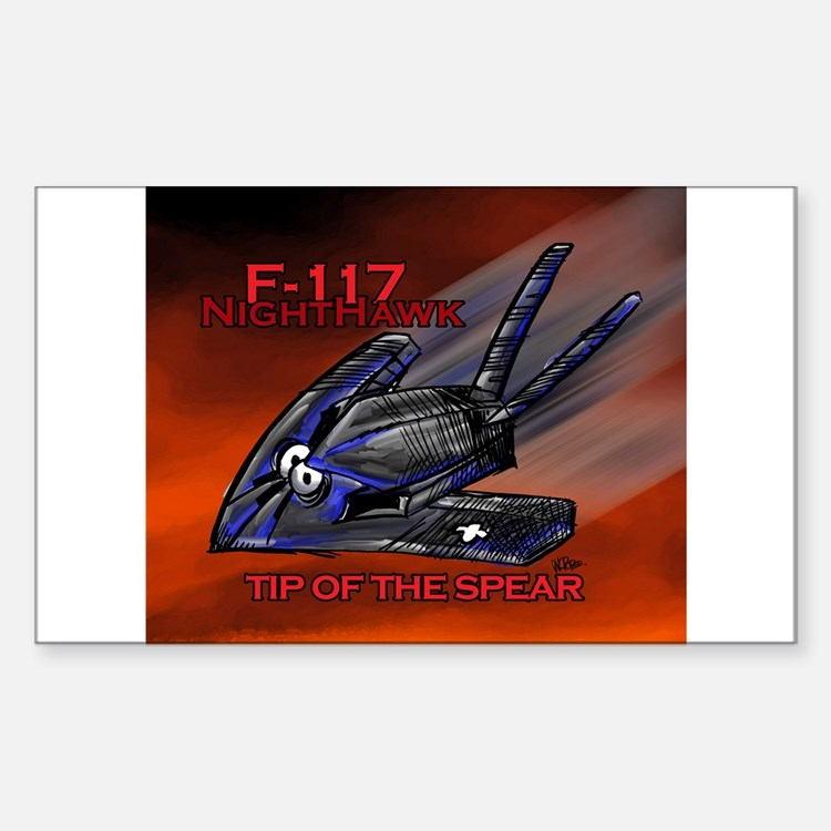 F-117 NightHawk Stealth Fight Rectangle Decal
