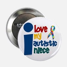"""I Love My Autistic Niece 1 2.25"""" Button (10 pack)"""