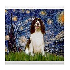 Starry Night & Springer Tile Coaster