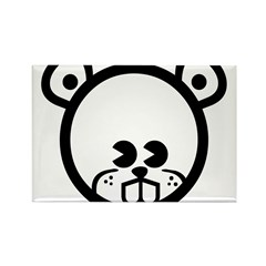 Beaver Rectangle Magnet (100 pack)