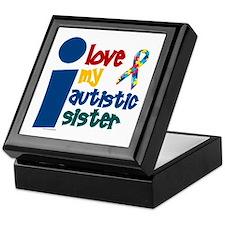 I Love My Autistic Sister 1 Keepsake Box