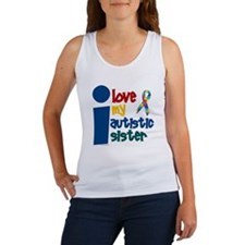 I Love My Autistic Sister 1 Women's Tank Top