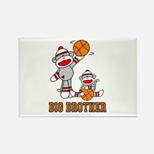 Basketball Monkey Big Brother Rectangle Magnet